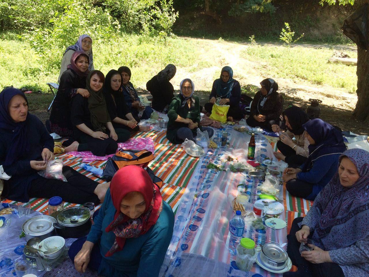اردوی جنگل نشینی در  مازندران   منطقه چورت کیاسر